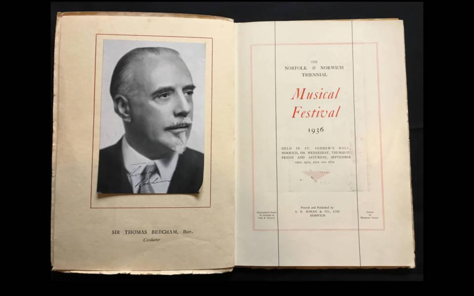 Opening spread of the 1936 Festival Souvenir Brochure